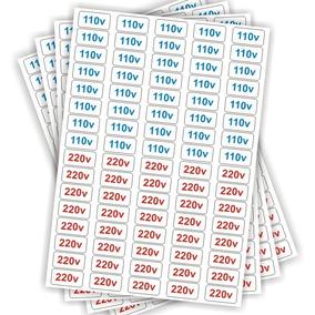 Cartela Etiquetas Adesivo De Voltagem 110v E 220v P/ Tomadas
