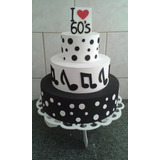 Bolo Fake Anos 60/ Aniversário