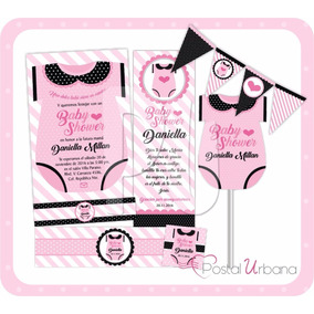 Kit Imprimible Baby Shower, Invitaciones, Bautizo, Recuerdos