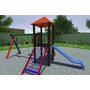 Playground Parque Infantil Colorido Em Madeira Modelo P -18