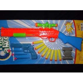 Rifle 55cm Shotgun Revolver Tiro Alvo Nerf Metralhadora Pist