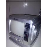 Tv Portátil 5.5 Preto E Branco Hometiter H551 Rádio Am/fm