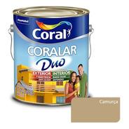 Tinta P/ Parede Externa Coralar Duo Coral - Camurça - 3,6l