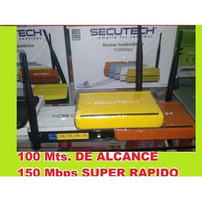 Router Secutech 1 Antena 150 Mbps/ Rapido Y Facil/ Tienda
