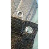 Media Sombra 98% Premium Dobladillo Costura Y Ojal Metalico