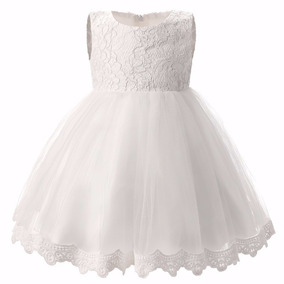 Vestidos De Bautizo Bodas Eventos Para Niñas Color Blanco