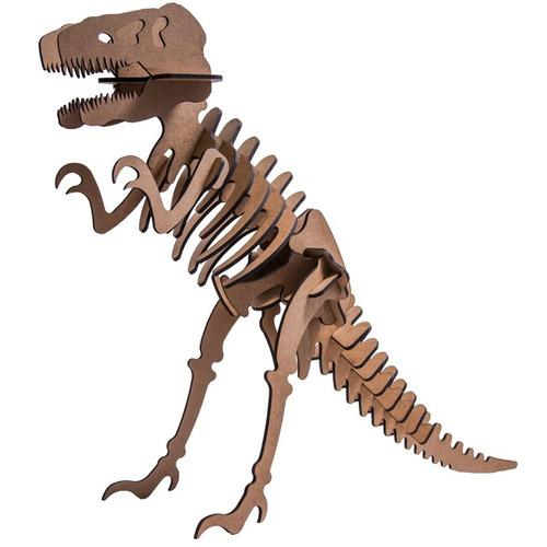 Quebra Cabe?a 3d,dinossauro Tiranossauros Rex, Mdf, Barato