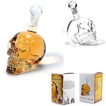 Garrafa De Vidro Cranio De Caveira 1 Litro Skull Com Tampa