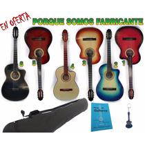 Guitarra Acústica En Combo De Manual, Llavero Y Forro