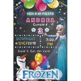 Invitaciones Cumpleaños Personalizadas Frozen Tipo Pizarron