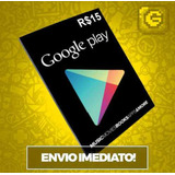 Cartão Google Play Store Gift Card R$15 Reais Br Android
