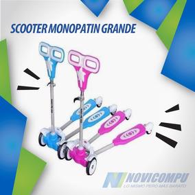 Scooter Monopatin Grande Piegable Con Movimiento Automatico