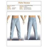 Moldes / Modelagem Calça Jeans Boyfriend Menina Ref900.617la
