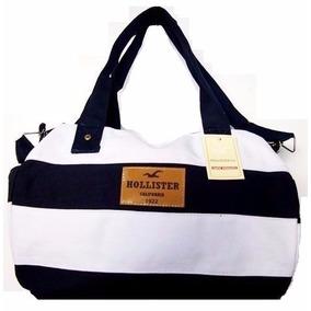 Bolsa Mala De Bordo Hollister Ziper Cores Original+ Etiqueta