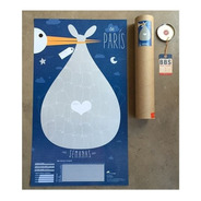 Poster Afiche Embarazo Futura Mamá Desarollo Bebé  Shower