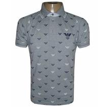 Camisa Polo Giorgio Armani Cinza Ga810