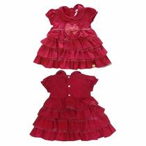 Vestido Festa Criança Infantil Com Strass - 9057