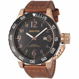 Relógio Magnum Soviet Masculino Ma33700p Couro Luxo
