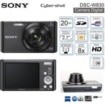 Câmera Digital Sony Dsc W830 20.1mp Vídeos Em Hd 8x Zoom