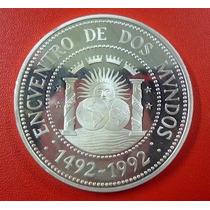 Argentina Plata Encuentro De Dos Mundos 1000 Australes 1991