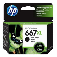 Cartucho Hp 667xl Negro 1275 2775 2778 2779  Original