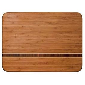Tabla Para Cortar Picar De Bambu 38x28 Cm *envio Gratis