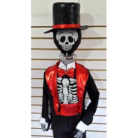 Disfraz Catrin Niño Mascara Sombrero Fajilla Muetos Hallowen