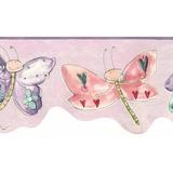 Cenefa Decorativa Infantil De Mariposas Y Libélulas 2 Rollos