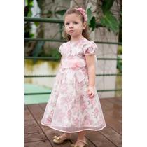 Vestido Para Festa Infantil Floral De Princesa Com Organza