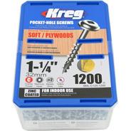 Tornillo Kreg Sml C125  1 1/4  32mm Caja X 1200u