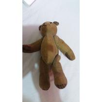 Antigo Urso Em Veludo / Teddy Bear / 20 Cms De Altura
