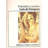 Soledades Y Sonetos De Luis De Góngora