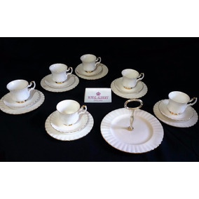 Royal Albert Jogo De Chá De Porcelana Vintage Inglês Val Dor