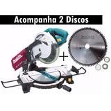 Serra Esquadria 10 254m Mls100 Makita +disco Aluminio Rocast