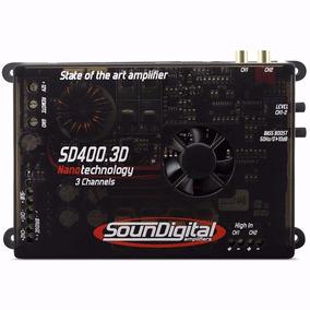 Módulo Amplificador Soundigital Sd400.3d 3 Canais 400wat Rms