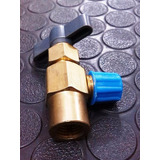 Válvula Para Bombona De Gas Desechable Refrigerante