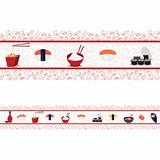 Faixa Decorativa - Comida Japonesa - 10cm X 1 Metro