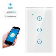 Interruptor De Luz Triple Táctil Con Wifi Google Home -alexa