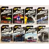 Coleção Hot Wheels - Serie Velozes E Furiosos 8 Carrinhos