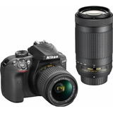 Nikon D3400 Dslr 2 Lentes Af-p Dx 18 55mm G Vr And 70 300mm