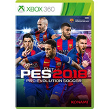 Pro Evolution Soccer 2018 Xbox 360 Pes 2018 Físico Sellado