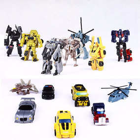 Kit 7 Bonecos Transformers Bumblebee Optimus Prime Hasbro
