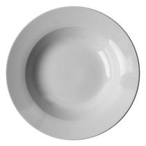 Jogo De Pratos Fundo Porcelana Branca - 12 Peças
