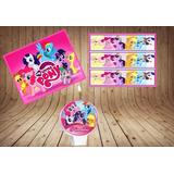 Kit My Litler Pony Papel Arroz Faixas E Vela Personalizados