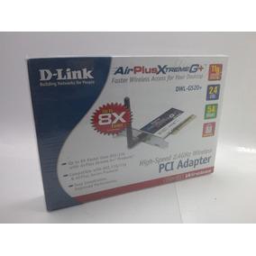 Placa Pci Wireless D-link Airplus Xtreme G+ Dwl-g520+ Novo