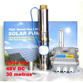Bomba De Agua Solar 30 Metros 48v 2500 Lt/hora