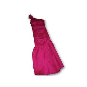 Vestido De Fiesta Color Fucsia Talla 34 Mod. Cola De Sirena