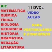 Kit 11 Dvds - Vídeo Aulas Para Vestibulares E Concursos