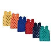 Camiseta Recién Nacido 6 Piezas 100% Algodón Colores Fuertes