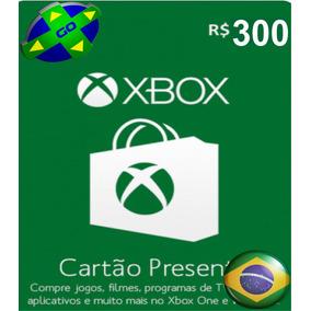 Microsoft Gift Card R$ 300 Reais Cartão Xbox Live Br